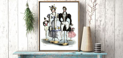 Les Fashionables Vintage Fashion Poster