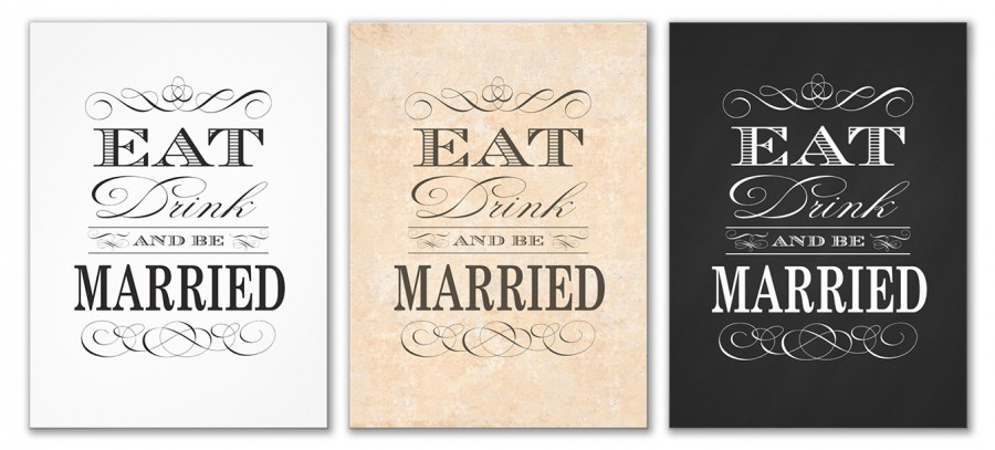 Wedding Invitations Eat Drink And Be Married: Eat Drink And Be Married Wedding Intivations