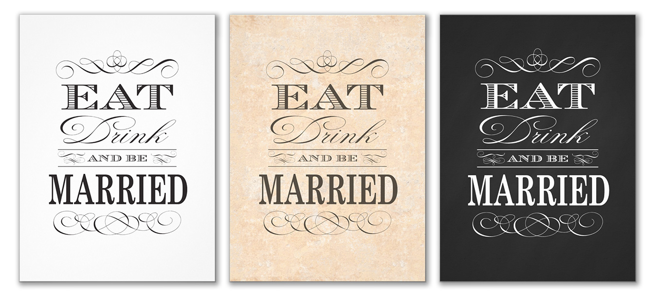 High Quality Eat Drink And Be Married Idea