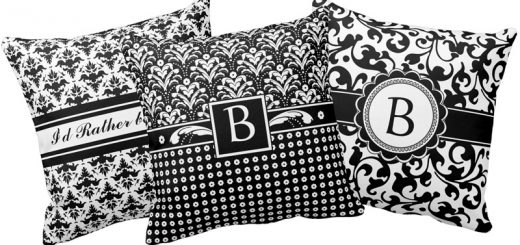 Black and White Damask Pillows