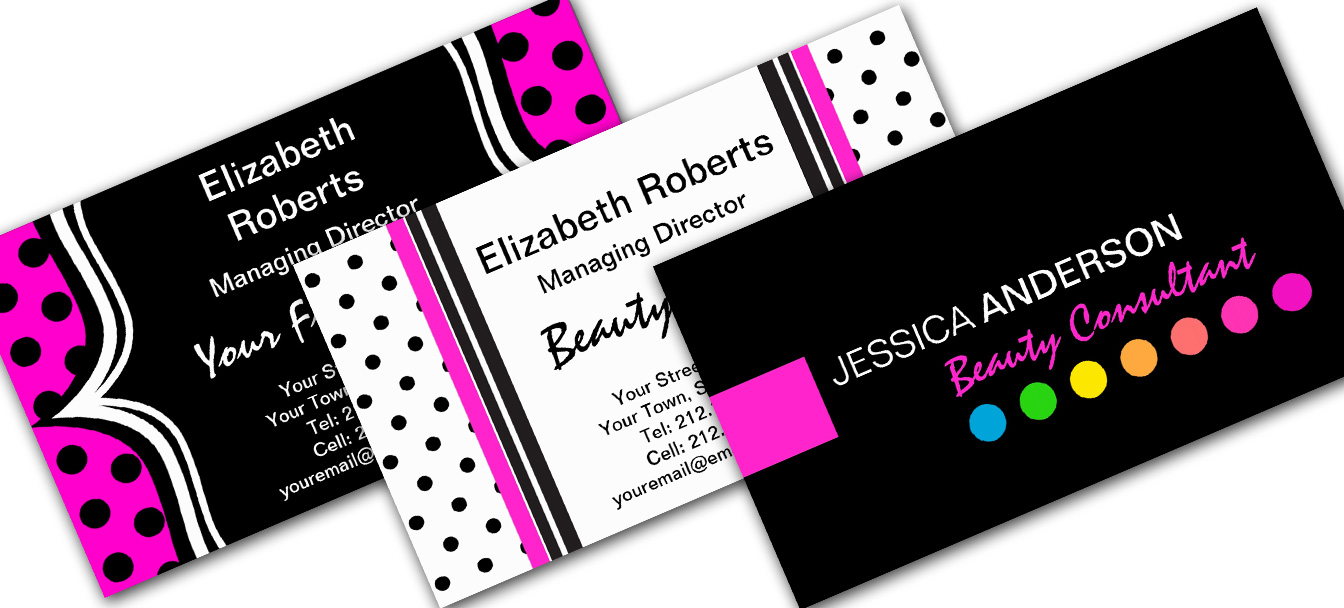 Polka Dot Business Cards
