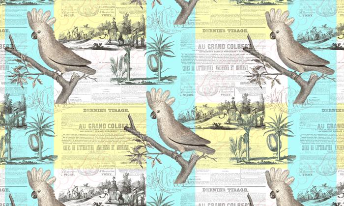 Vintage Cockatoo Pattern