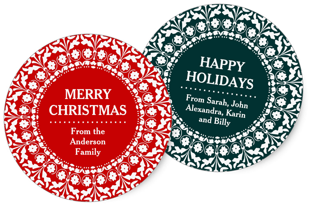 Customizable Christmas / Holiday Stickers