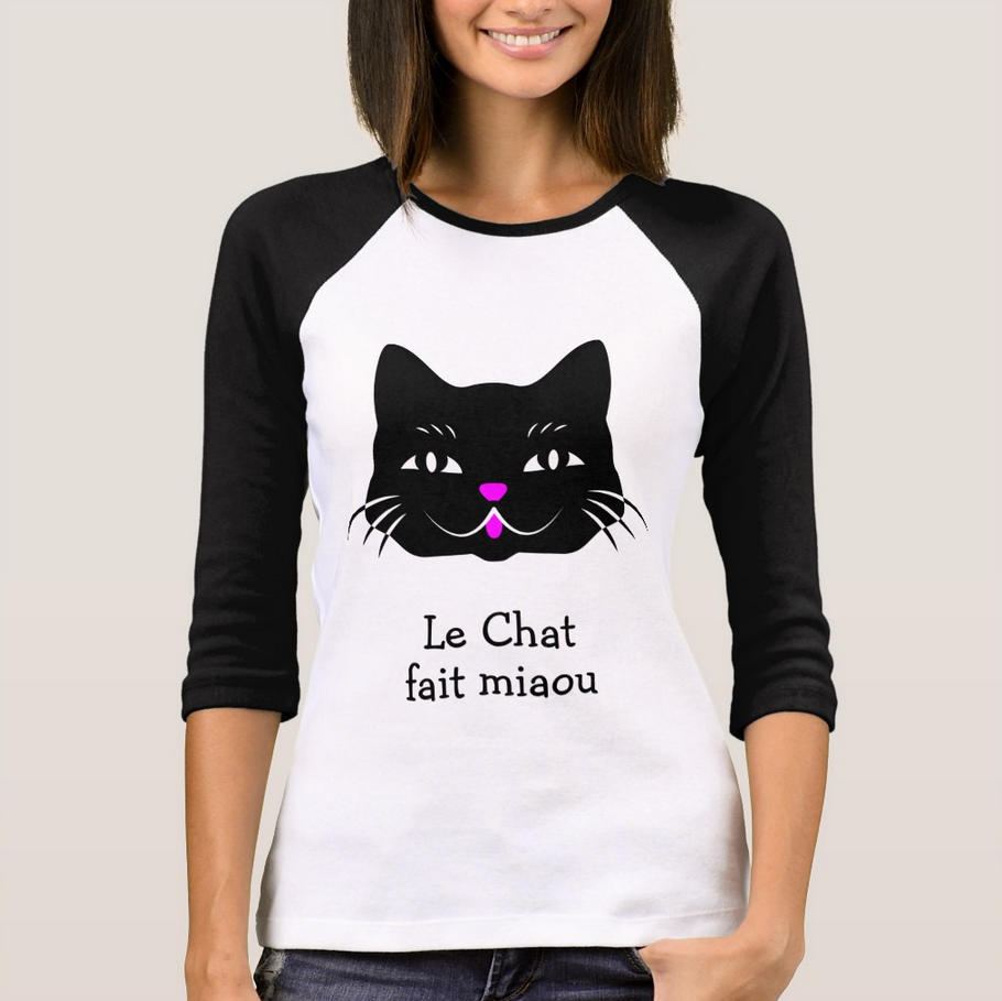 The Cat Says Meow French Text