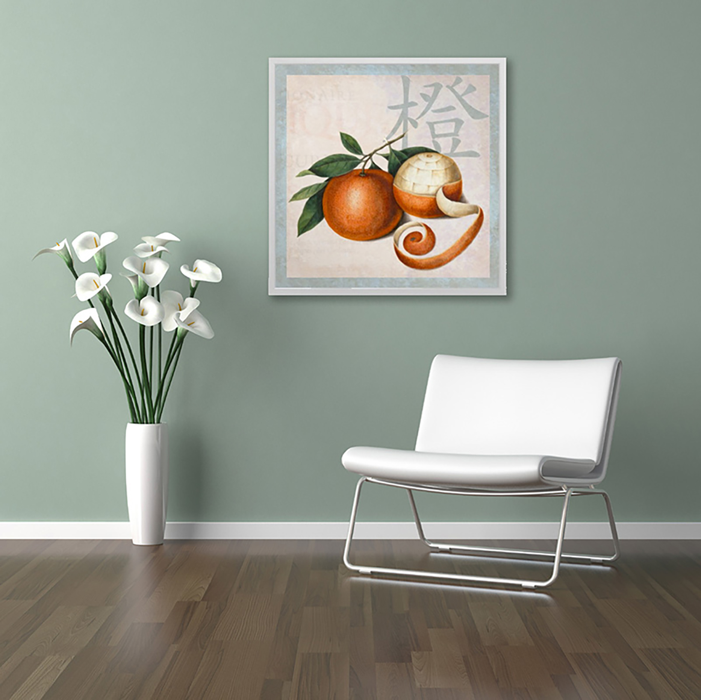 Chinese Oranges Poster