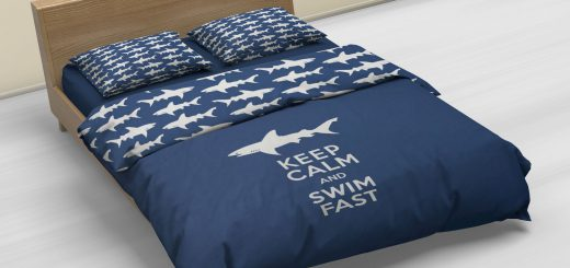 Keep Calm Swim Fast Duvet Cover