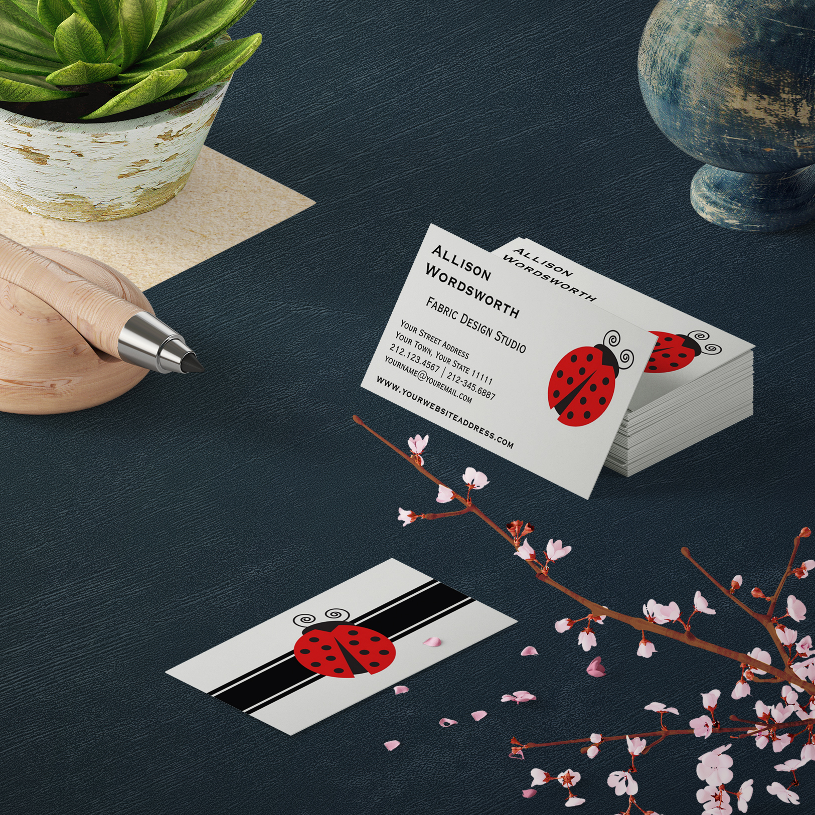 Lady Bug Business Cards