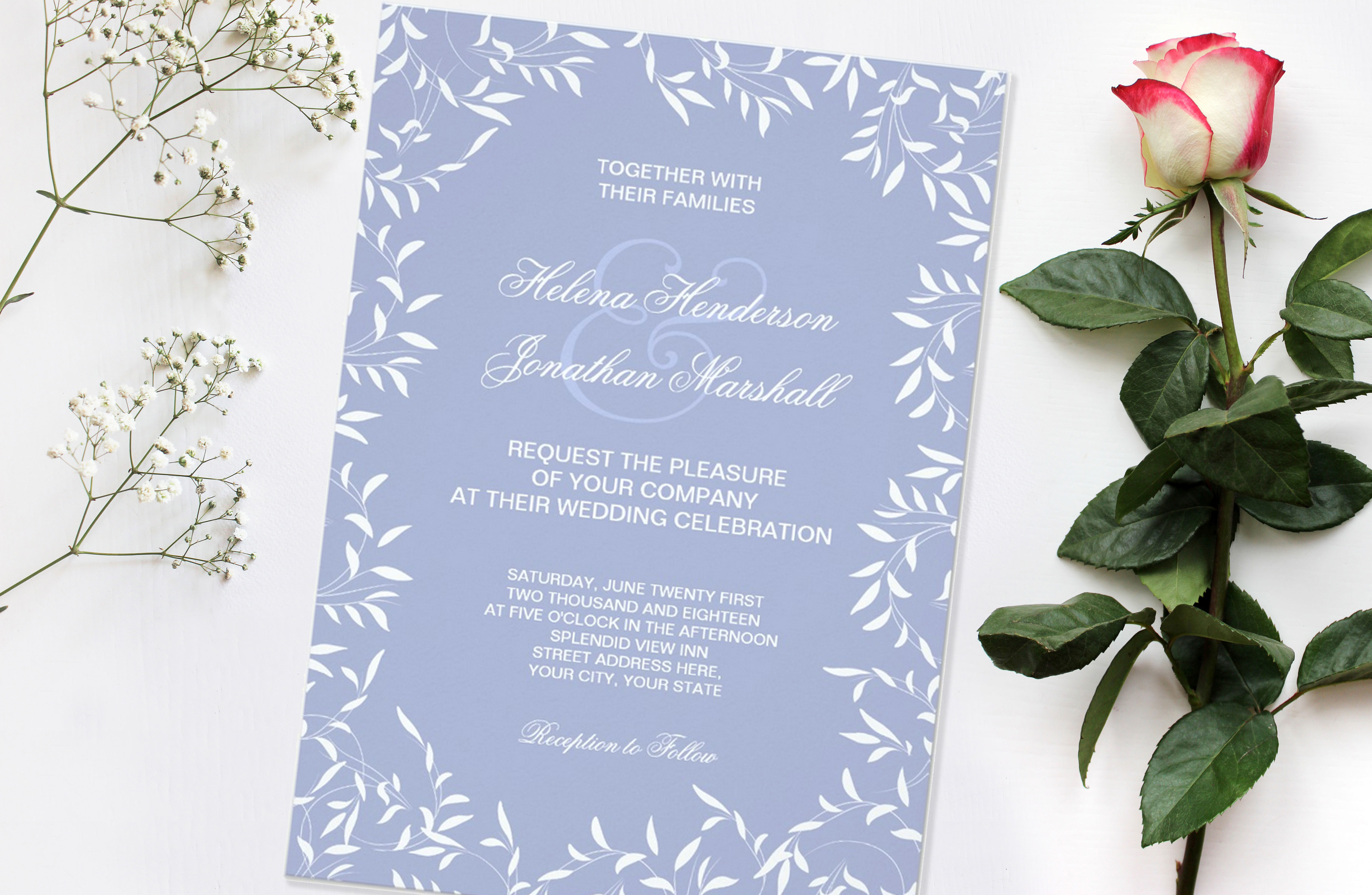 Willow Garden Wedding Invitation