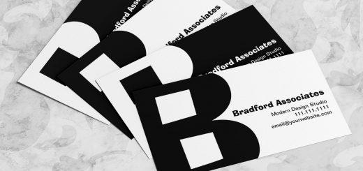 Big Bold Letter B Business Cards
