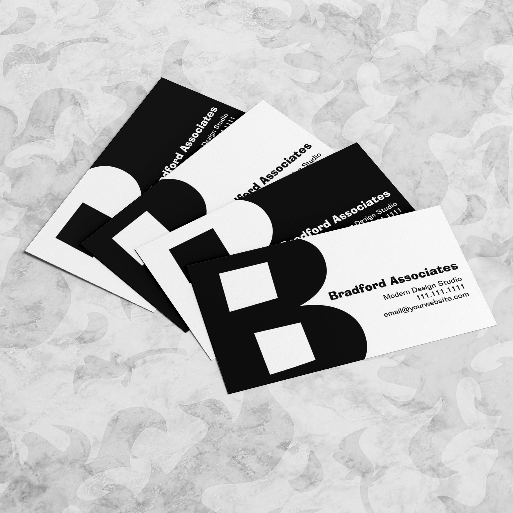 Big Bold Letter B Business Cards