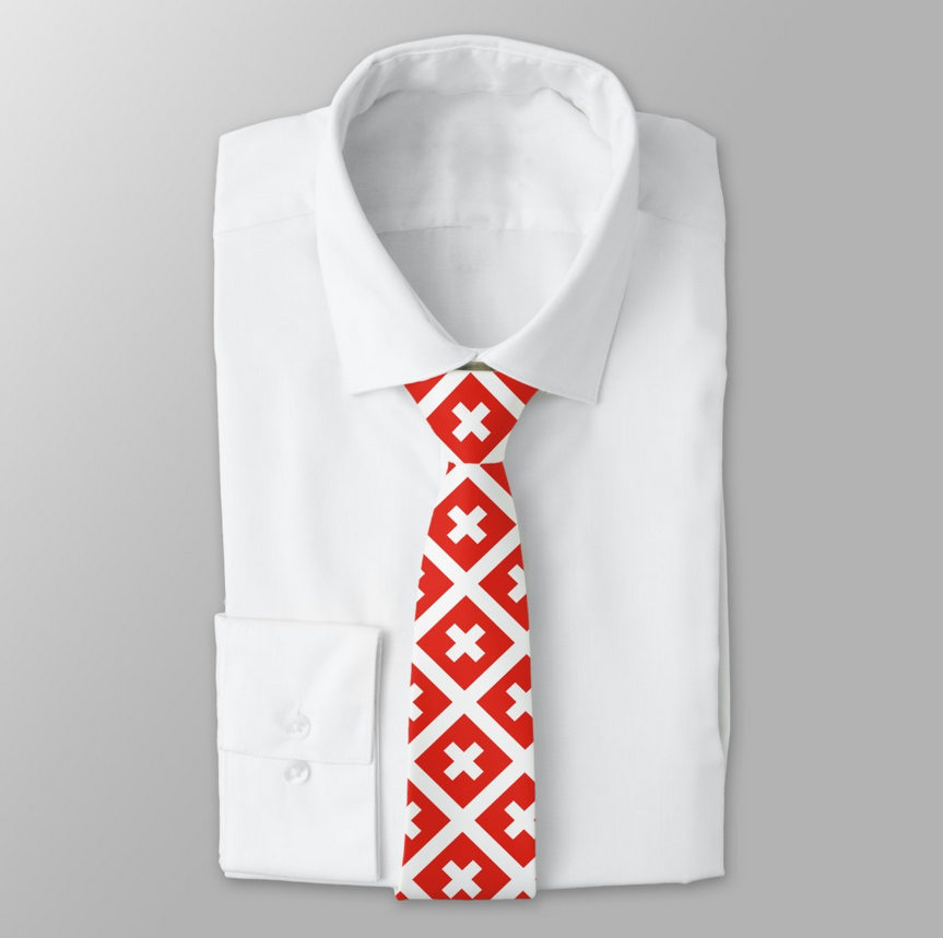 Swiss Flag Necktie