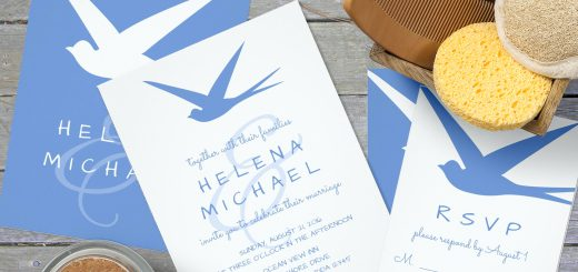 Blue Bird Wedding Invitations