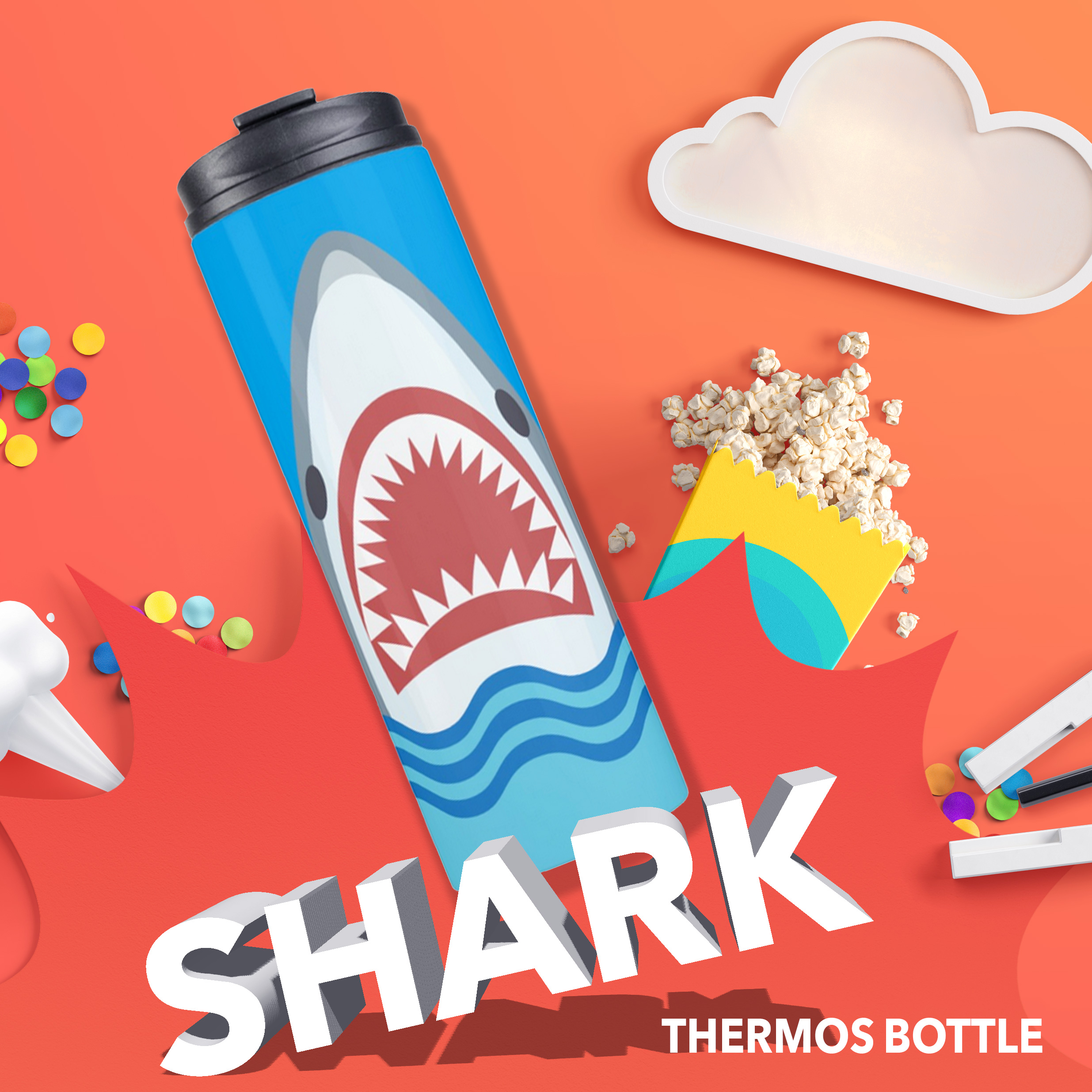 Shark Thermos Bottle
