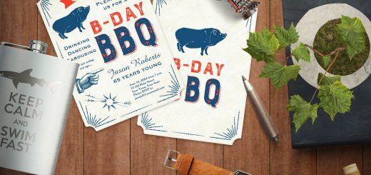 Vintage BBQ Party Invitation With Pig