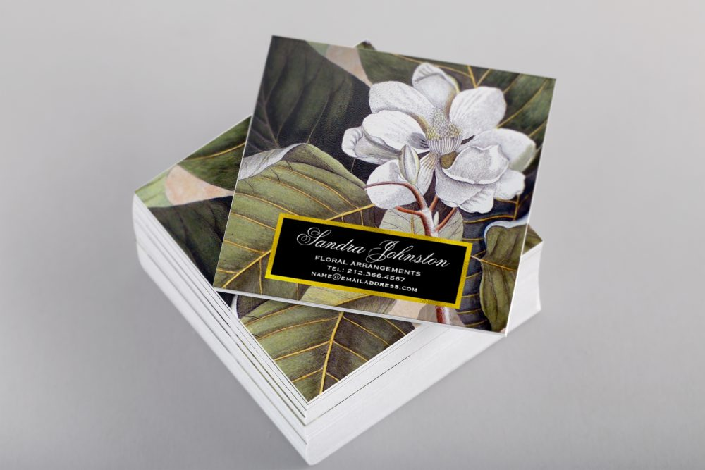 Vintage White Magnolia Business Cards – Antique Images