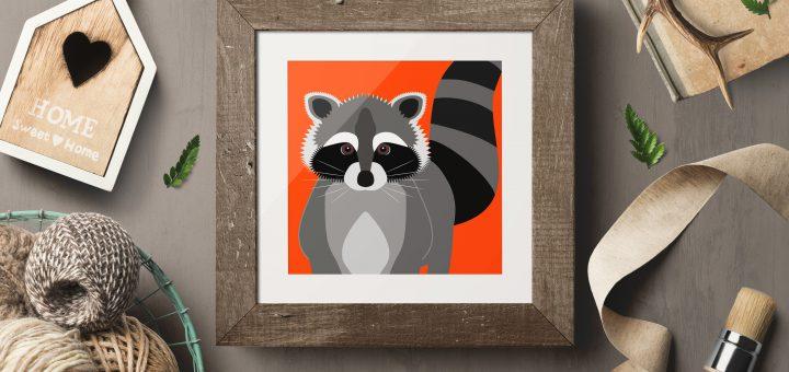 Cute Raccoon Poster